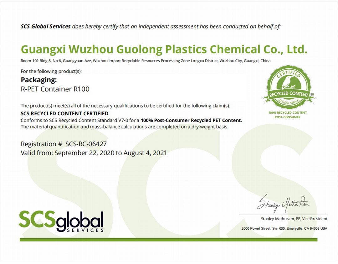 SCS 100% R-PET Packaging
